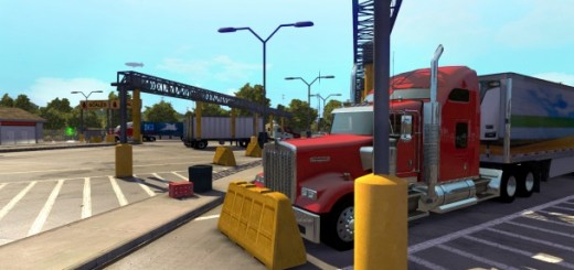 American Truck Simulator - Custom 4-monitor (3+1) (Gameplay)