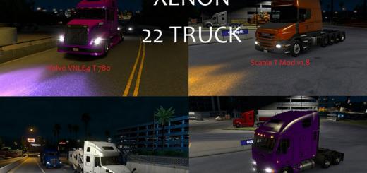ATS 22 Trucks Xenon Gold Violet Pack v 2.0