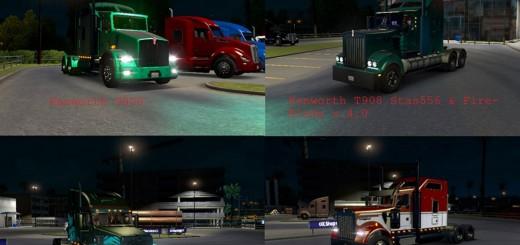 ATS 28 TRUCKS XENON LIGHT TURQUOISE & LIGHT GREEN PACK V 3.0 2