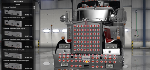 Extra Bumpers and Parts for Kenworth W900 v 1.1 2