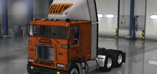 Freightliner FLB Yellow Fright System Skin1