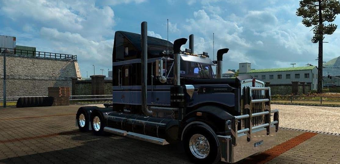 Grey HHA skin for the Kenworth T908 - American Truck Simulator mod ...