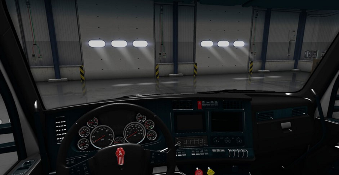 kenworth t680 black teal interior american truck simulator mod ats mod. Black Bedroom Furniture Sets. Home Design Ideas