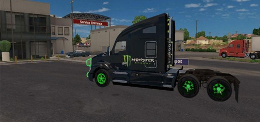 KENWORTH T680 TRUCK MONSTER ENERGY MEGA PACK V1.1 2