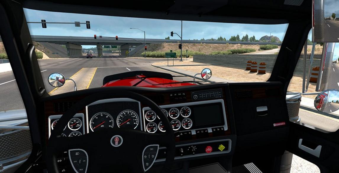 kenworth 900 black woods interior american truck simulator mod ats mod. Black Bedroom Furniture Sets. Home Design Ideas