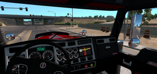 Kenworth 900 Redsteel Interior 2
