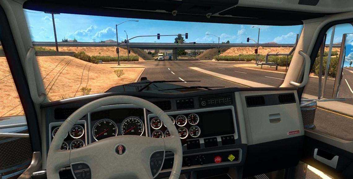 Kenworth w900 blue white interior american truck simulator mod kenworth w900 blue white interior 3 voltagebd Images