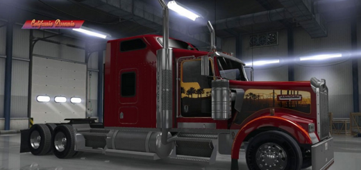 Kenworth W900 California Dreamin Custom Skin2