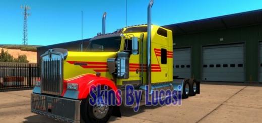 Kenworth W900 Z Stripe Multicolor Skin 1