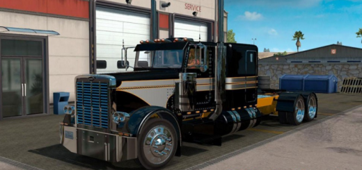 PETERBILT 389 METALLIC SILVER:BLACK SKIN