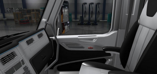 PETERBILT 579 (BLACK-WHITE) INTERIOR 1