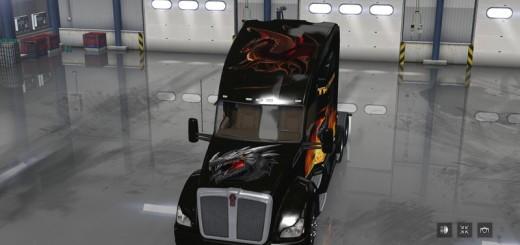 THE DRAGON KENNWORTH T680 HI RISE SLEEPER TRUCK V 1.0 SKIN 2