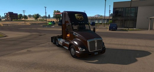 UPS Skin for Day cab Kenworth 680 v1.0.0-1