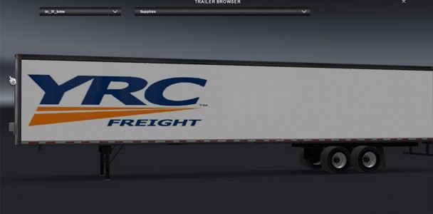 Yrc Freight Trailer - American Truck Simulator mod / ATS mod