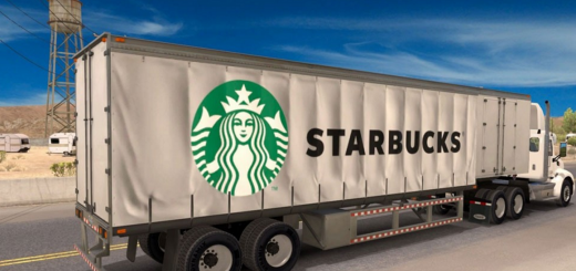 Starbucks Curtain Trailer