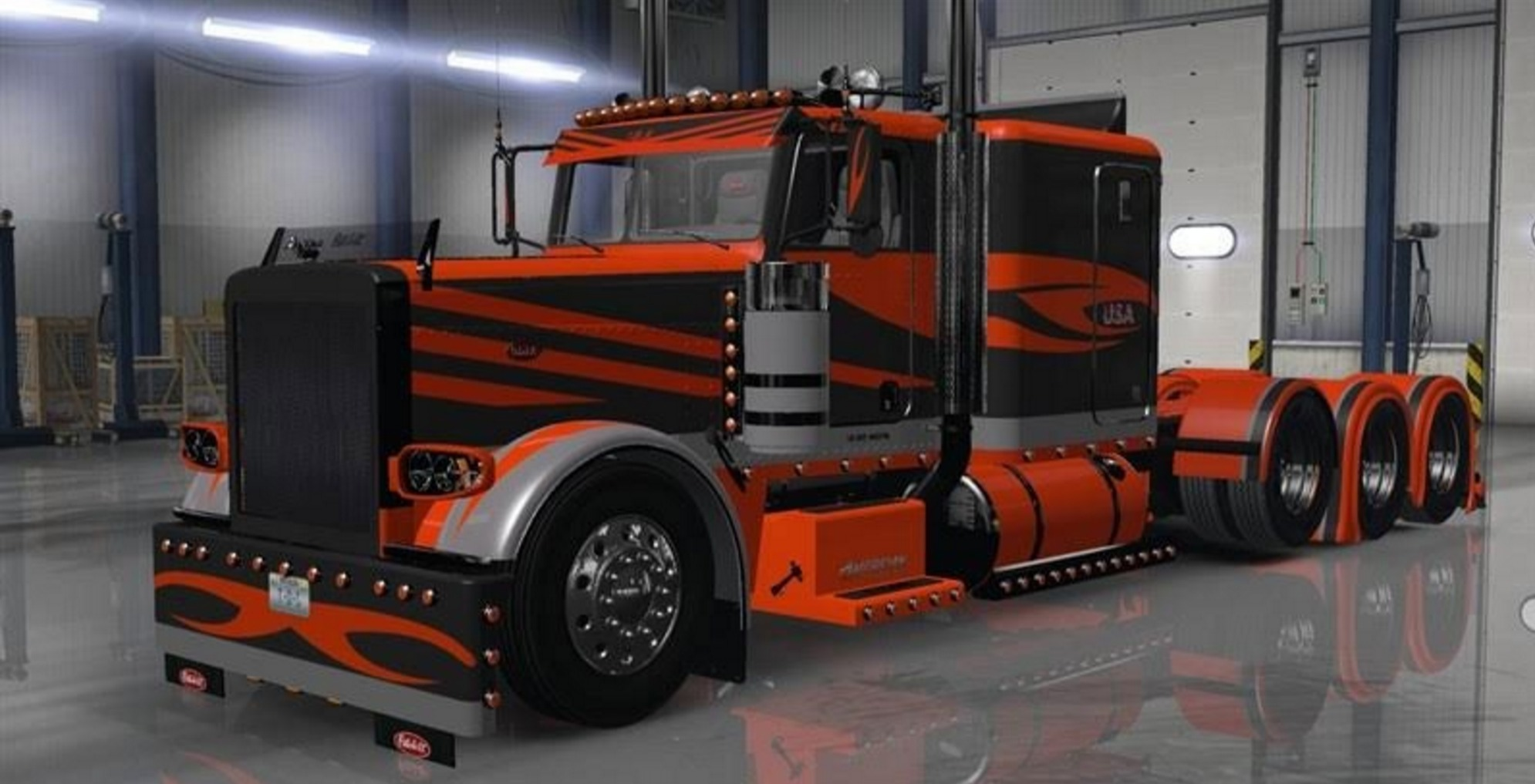 ATS T-D-S peterbilt 389 pet_1 Skin - American Truck Simulator mod