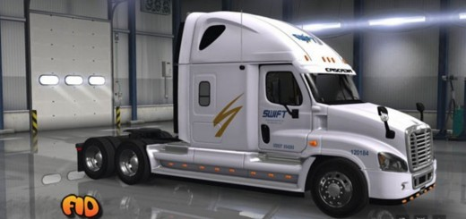 Freightliner Cascadia Swift Transportation Skin (2)