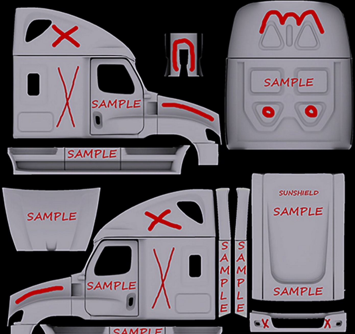 freightliner cascadia template for ats
