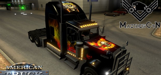 Kenworth W900 Guns and Roses Skin (1)