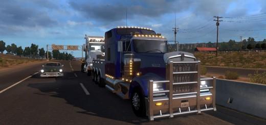 Kenworth W900 Wrecker + Load + Template (1)