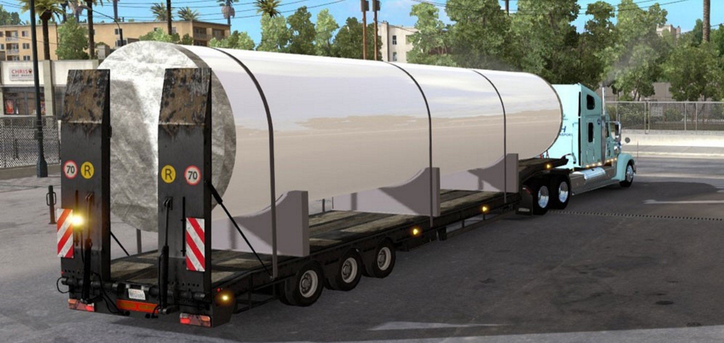 red tube trailer