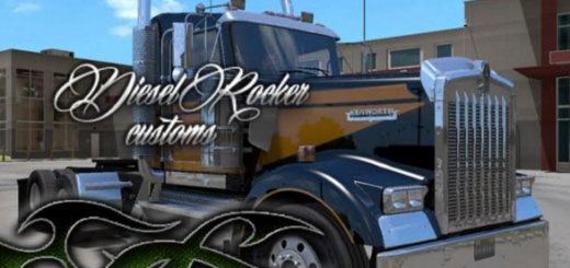 Multicolor paintjob for Kenworth W900 ATS