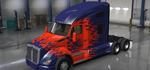 Optimus Prime Kenworth T680 Truck metallic