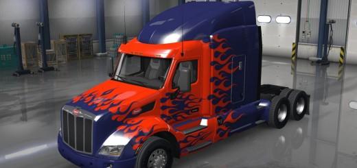 Optimus Prime Peterbilt 579 Truck metallic