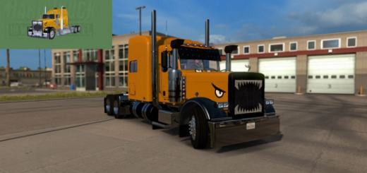 Peterbilt 389 Hard Truck 18 Wheels of Steel Skin 1