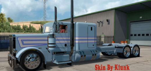 Peterbilt 389 Light Blue_White skin