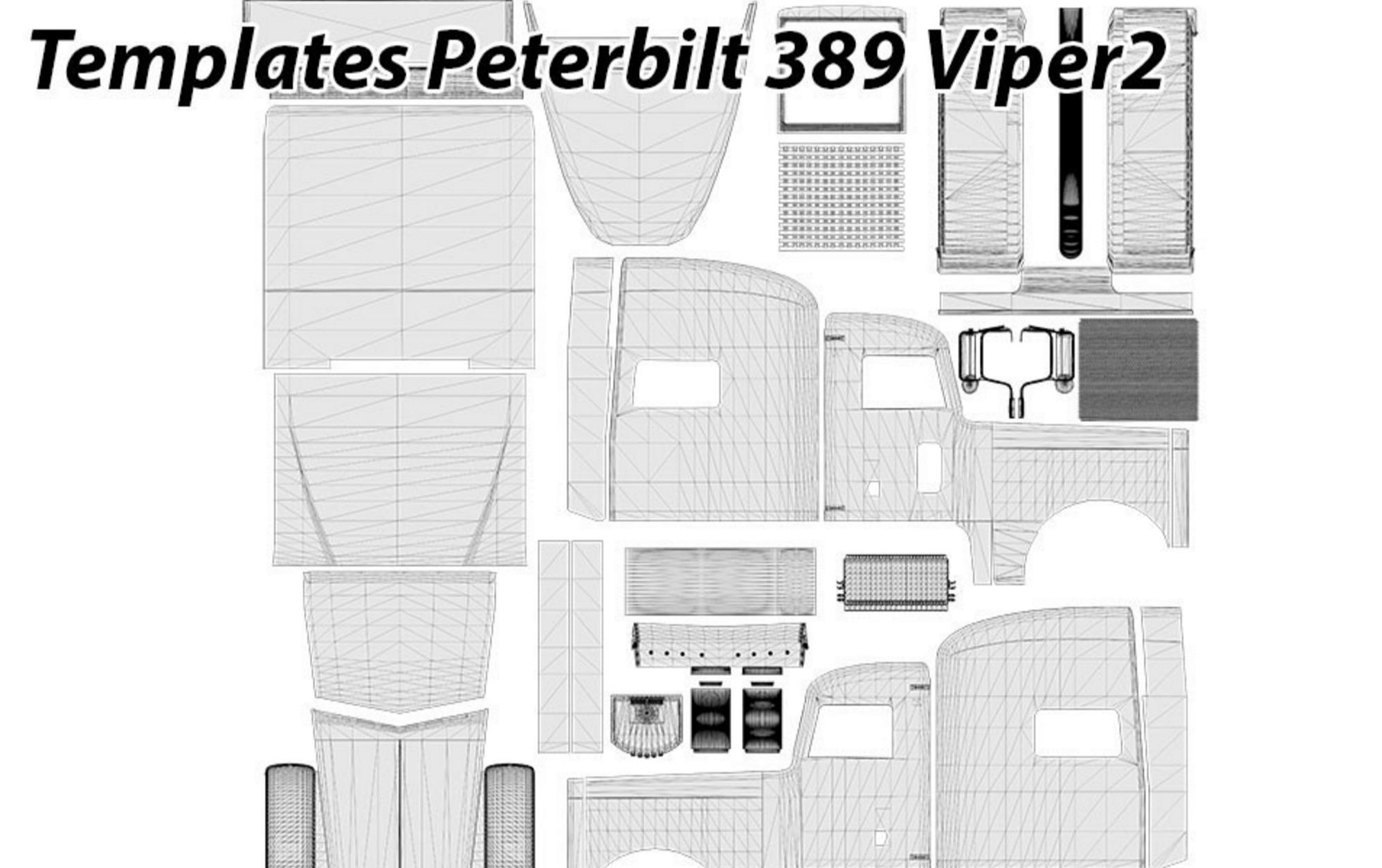 Peterbilt 389 viper2 templates american truck simulator for Howell s motor freight