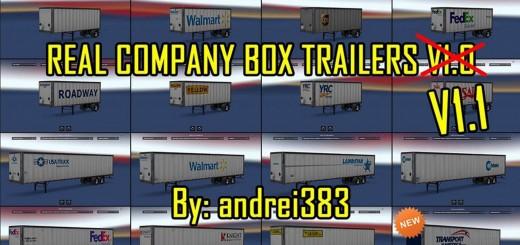 Real Company Box Trailers V1.1 1