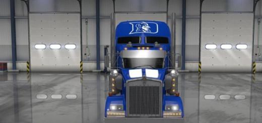 UNC Tar Heel Truck Skin (Ken W900) UPDATE (1)