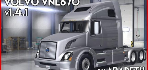 VOLVO VNL 670 FOR ATS TRUCK V1.4.1 BY ARADETH 3