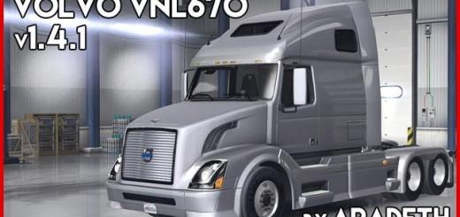 VOLVO VNL 670 FOR ATS TRUCK V1.4.1 BY ARADETH 3
