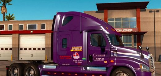 """Covenant Transport"" Freightliner Cascadia (3)"