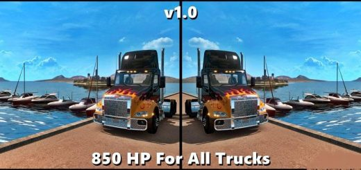 850 HP FOR ALL TRUCK V1.0