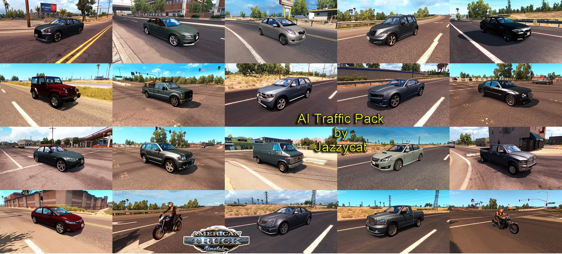 AI TRAFFIC PACK BY JAZZYCAT V1 5 - American Truck Simulator