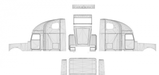 Freightliner Classic XL template for skins