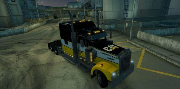 Kenwort w900 skin cat caterpillar skin american truck for Howell s motor freight