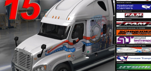 Pack 15 repaints for Freightliner Cascadia v 1 (2)