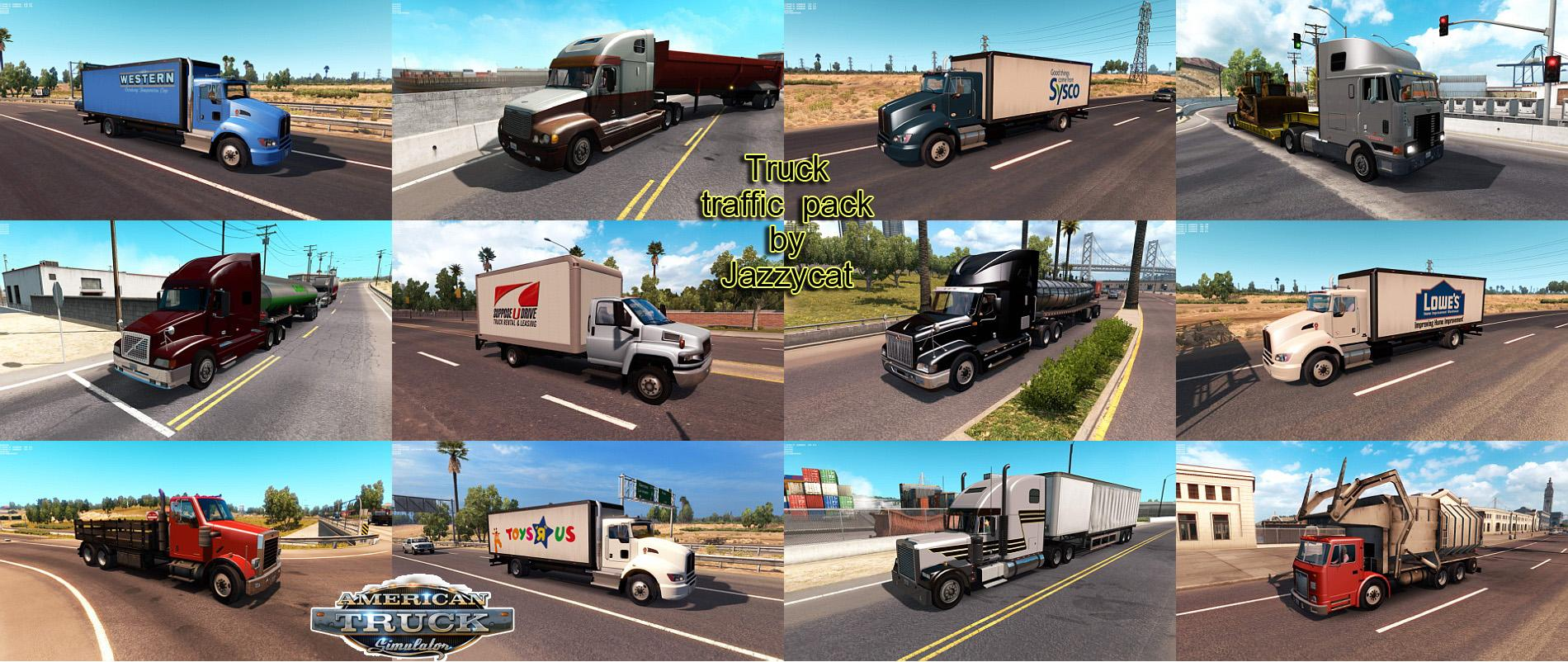 TRUCK TRAFFIC PACK MOD BY JAZZYCAT V1 5 ATS - American Truck