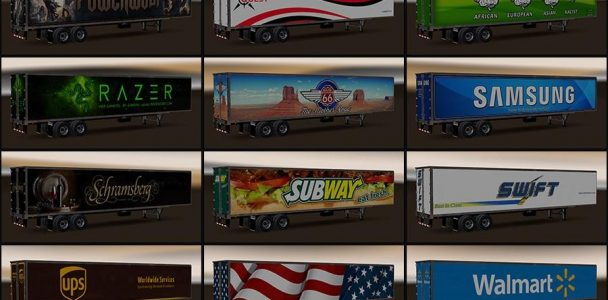 NEW USA TRAILERS PACK MOD V1 1 ATS - American Truck