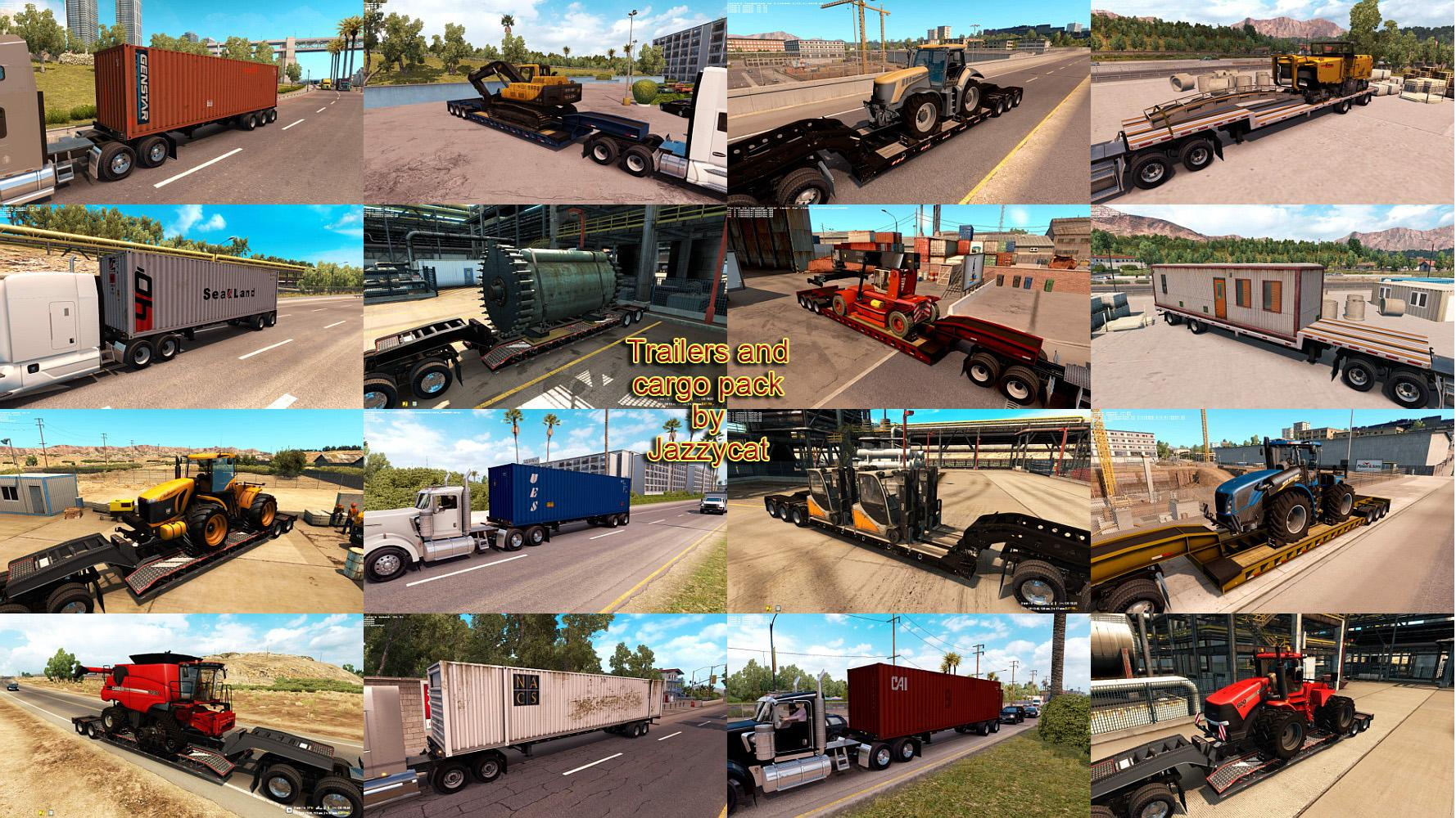 TRAILERS AND CARGO PACK MOD BY JAZZYCAT V1 3 1 ATS